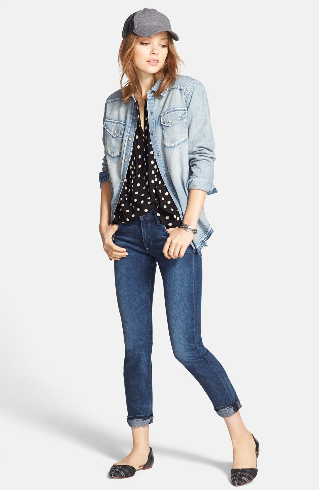 Arielle Slim Jeans,                             Alternate thumbnail 5, color,                             Hewett