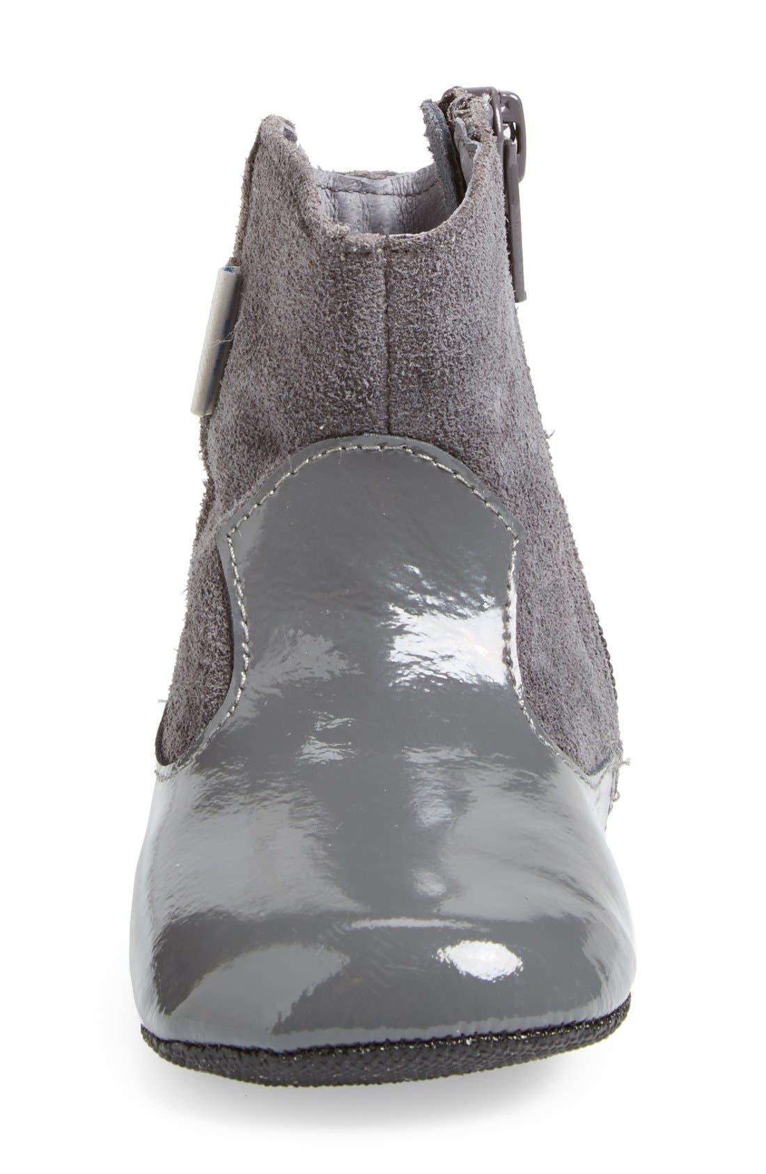 Mini Shoez 'Clementine' Boot,                             Alternate thumbnail 3, color,                             Pewter