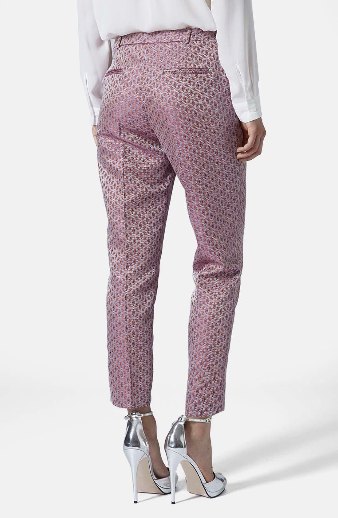 Alternate Image 2  - Topshop Jacquard Cigarette Pants
