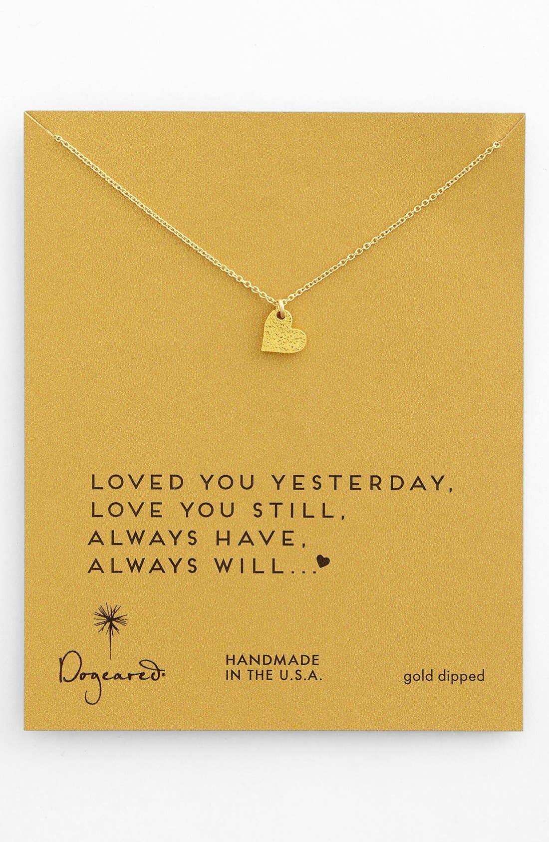Alternate Image 1 Selected - Dogeared 'Sparkle Heart' Boxed Pendant Necklace