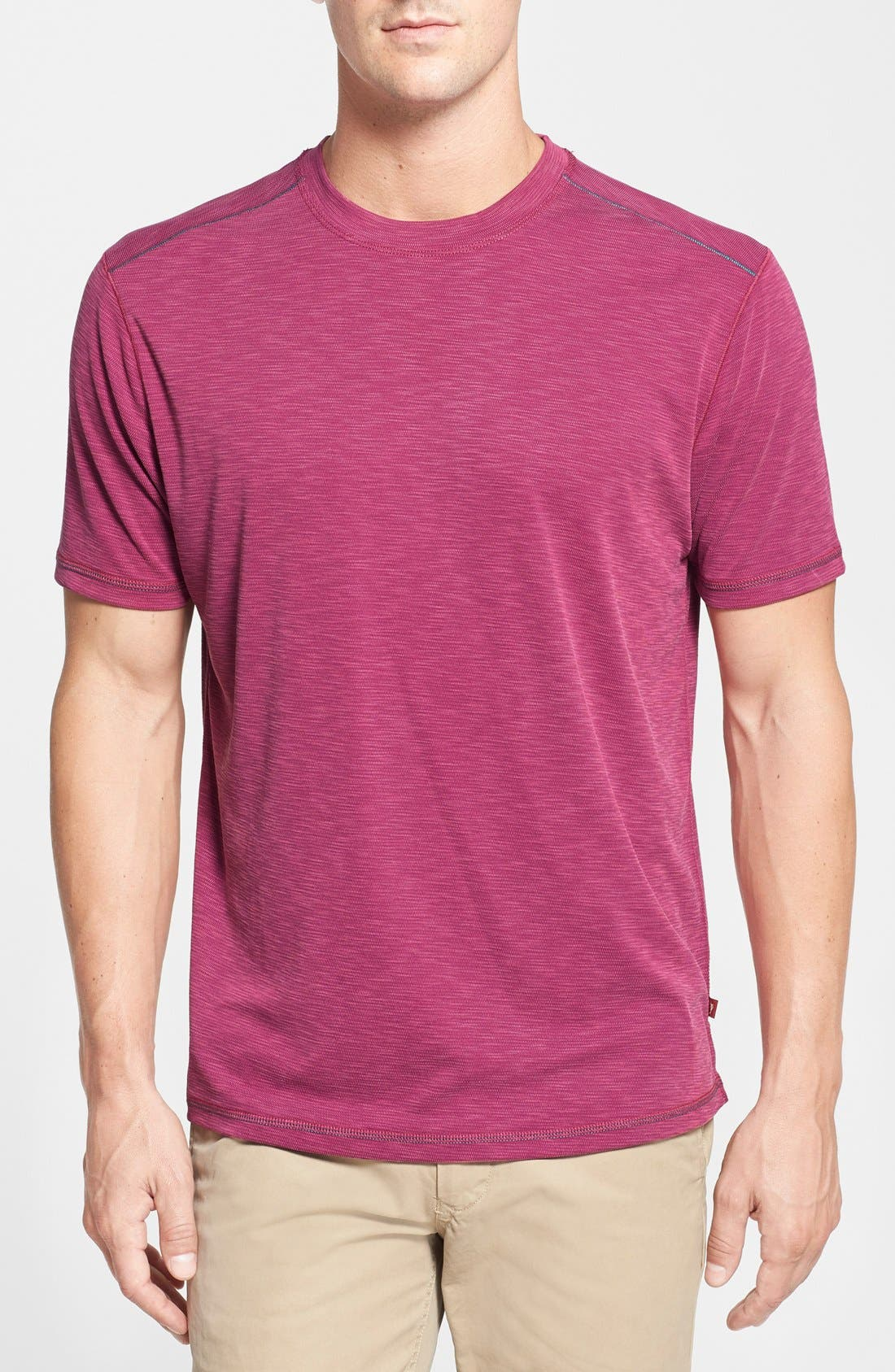 'Paradise Around' Crewneck T-Shirt,                             Main thumbnail 1, color,                             Wild Cherry