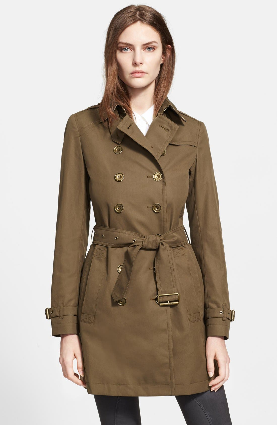 Main Image - Burberry Brit 'Crombrook' Cotton Trench Coat