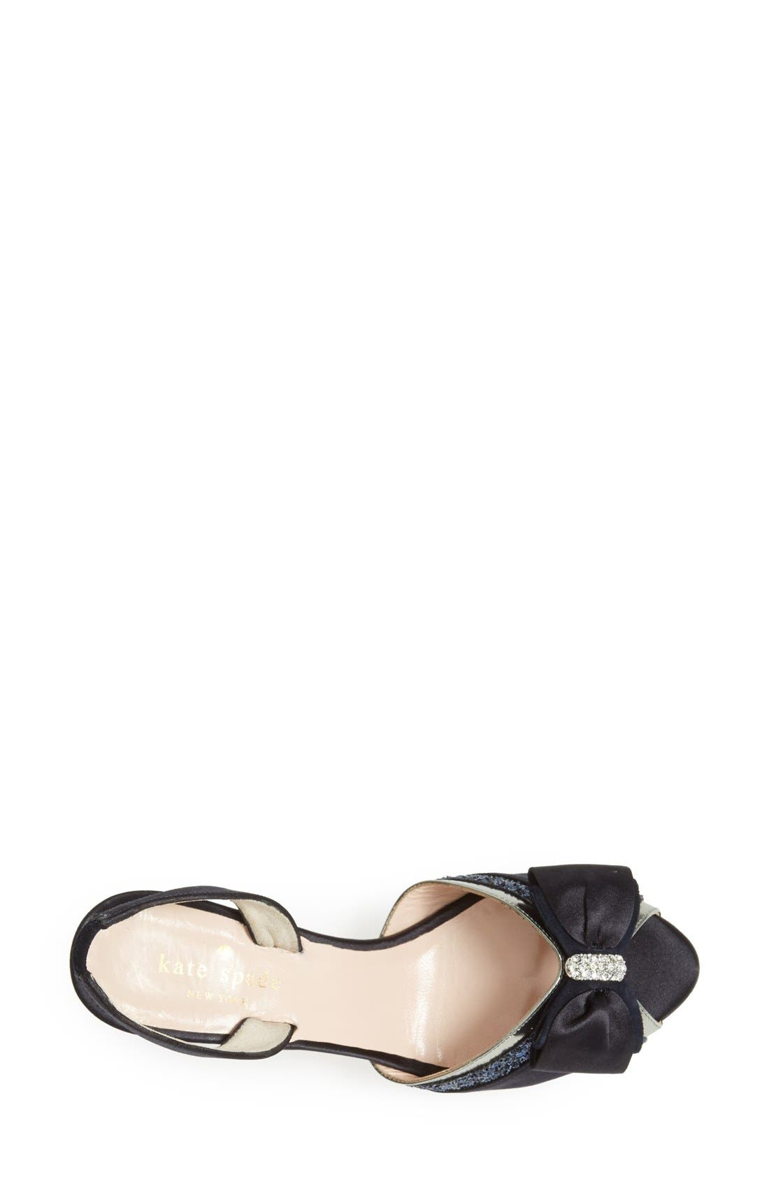 Alternate Image 3  - kate spade new york 'solar' satin bow sandal (women)