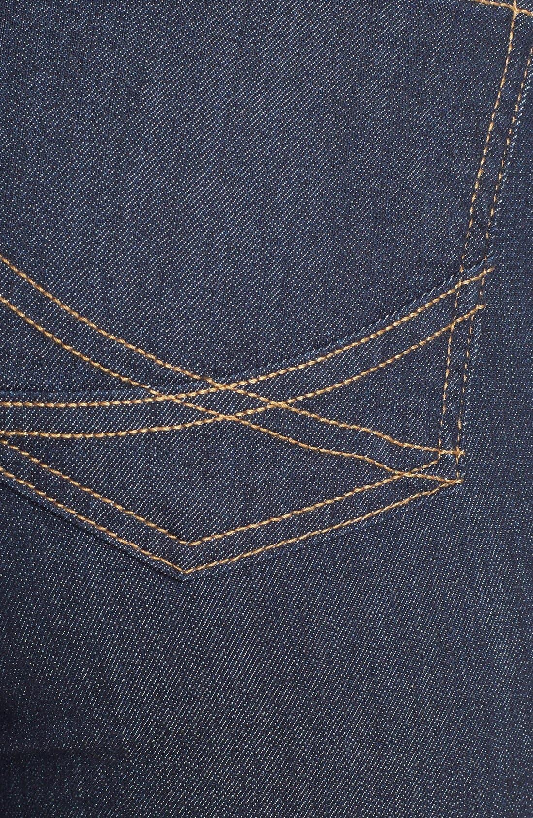 Alternate Image 3  - NYDJ 'Marilyn' Stretch Straight Leg Jeans (Dark Enzyme) (Regular & Petite)