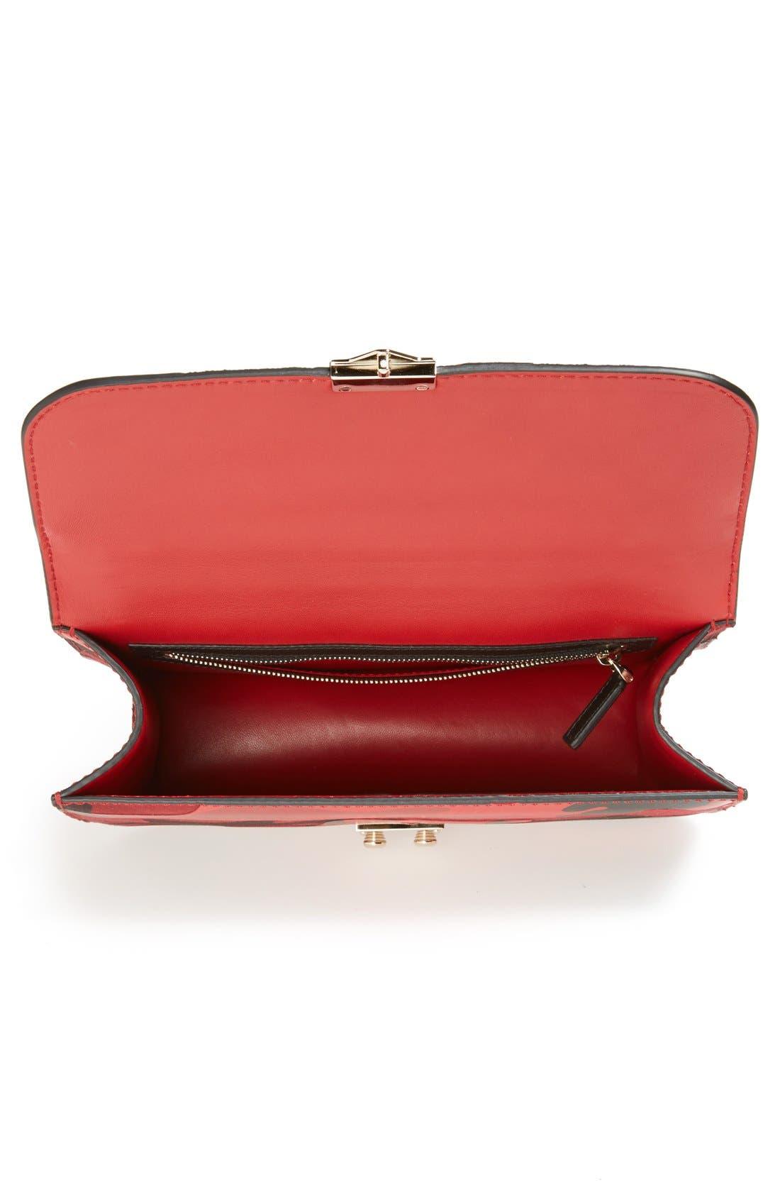 Alternate Image 3  - Valentino 'Rockstud Camo - Medium Lock' Canvas & Leather Shoulder Bag
