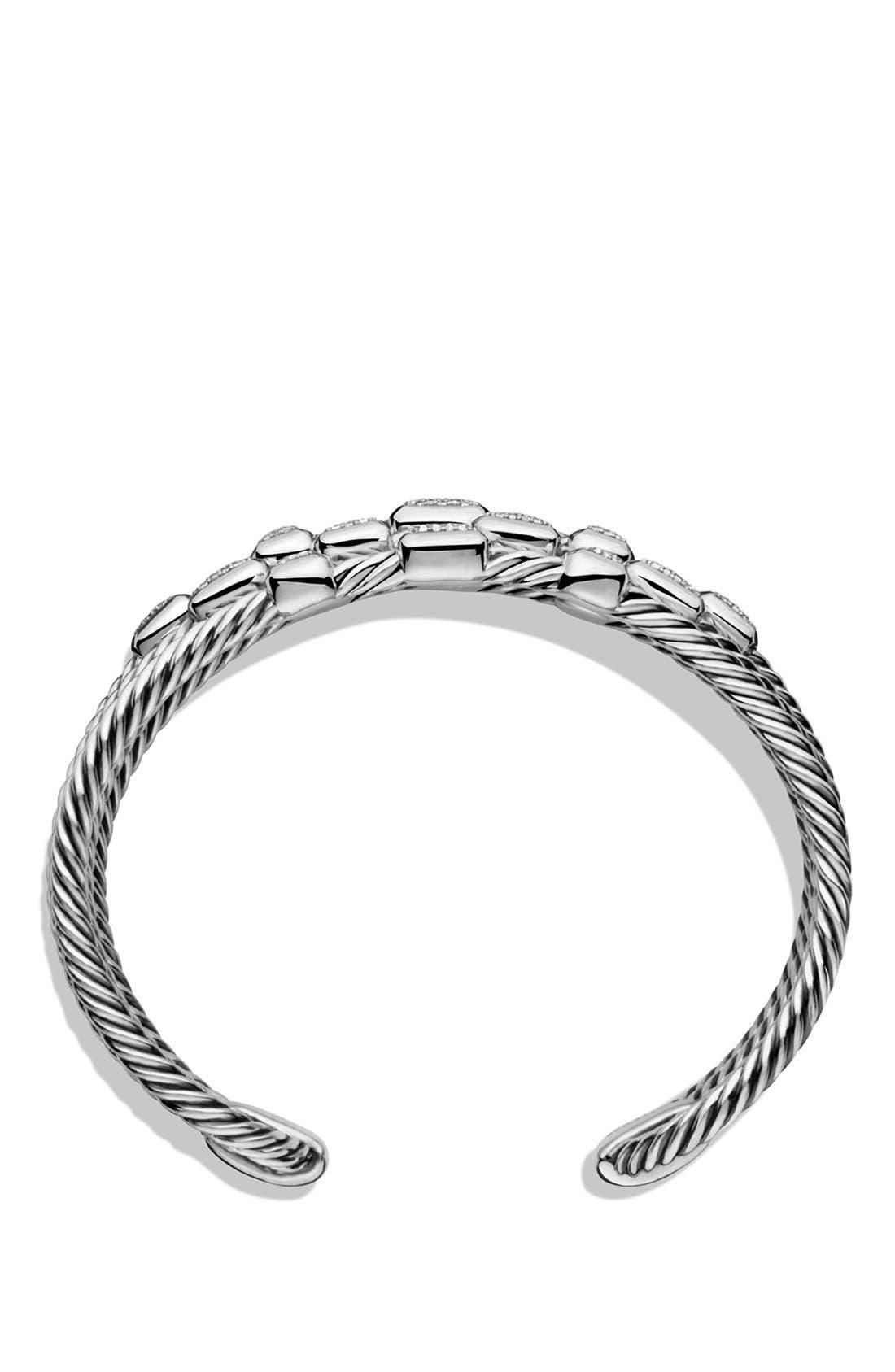 Alternate Image 2  - David Yurman 'Confetti' Wide Cuff Bracelet with Diamonds