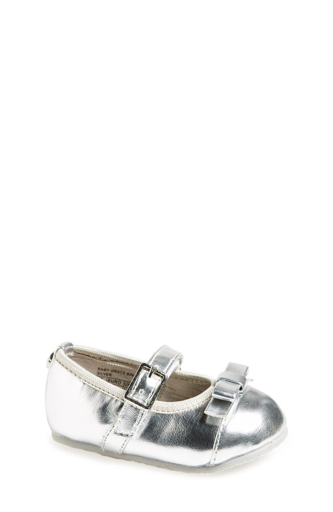 Alternate Image 1 Selected - MICHAEL Michael Kors 'Grace Bina' Mary Jane Crib Shoe (Baby)