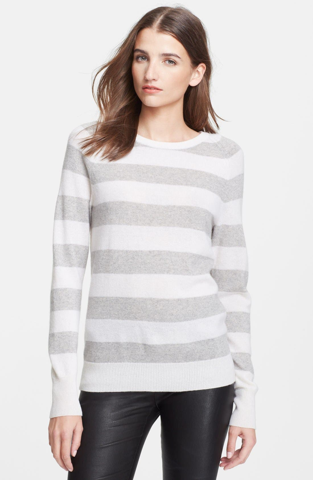Main Image - Equipment 'Sloane' Metallic Stripe Cashmere Sweater