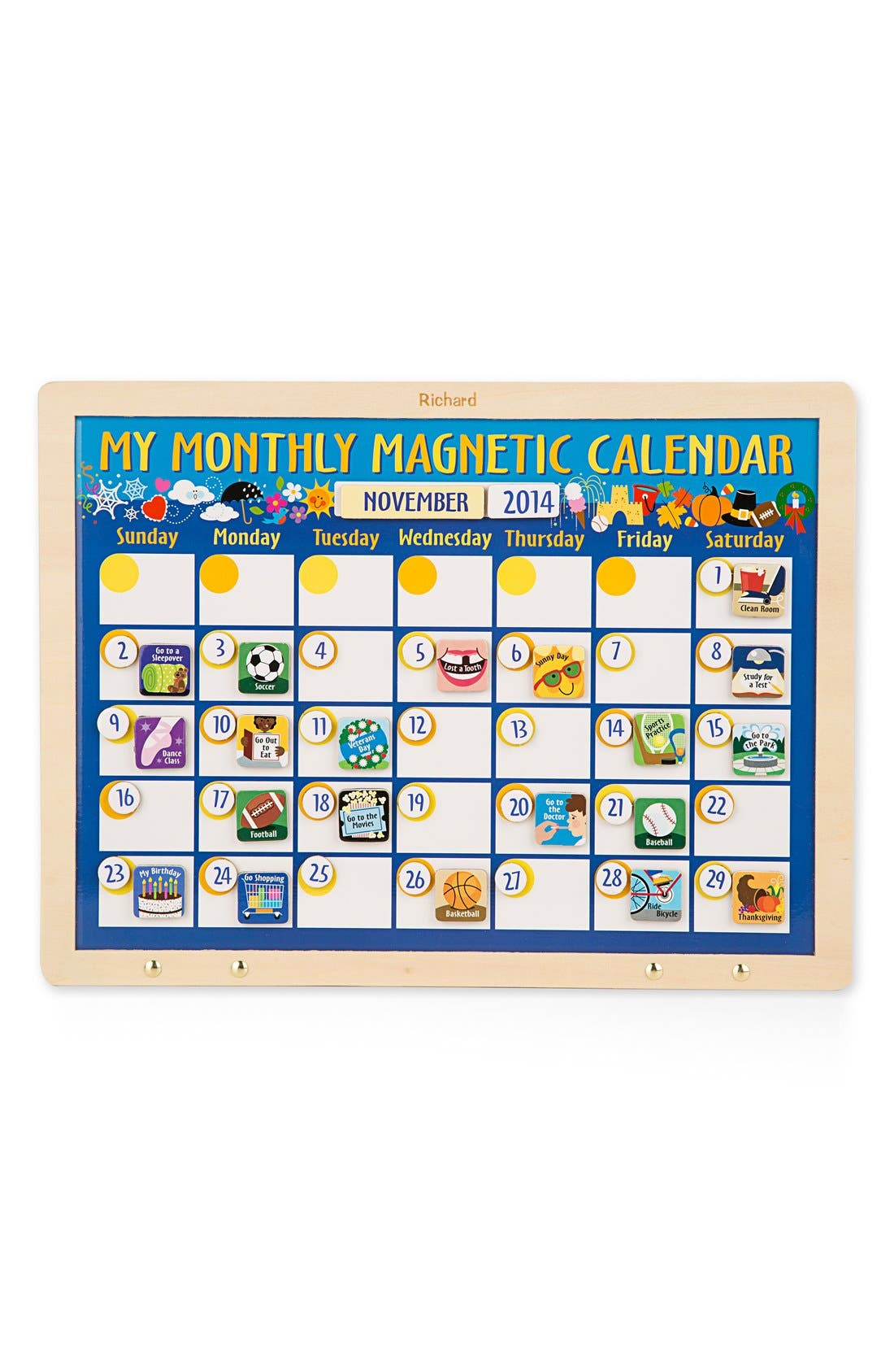 Alternate Image 1 Selected - Melissa & Doug Personalized 'My Monthly Magnetic Calendar'