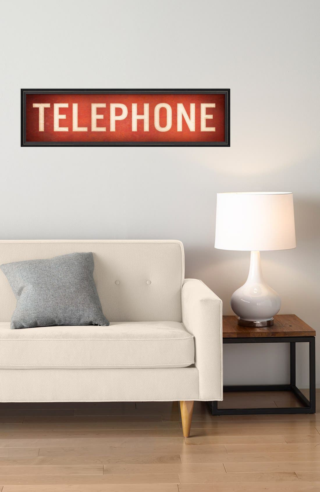 Alternate Image 2  - Spicher and Company 'Telephone' Vintage Look Sign Artwork
