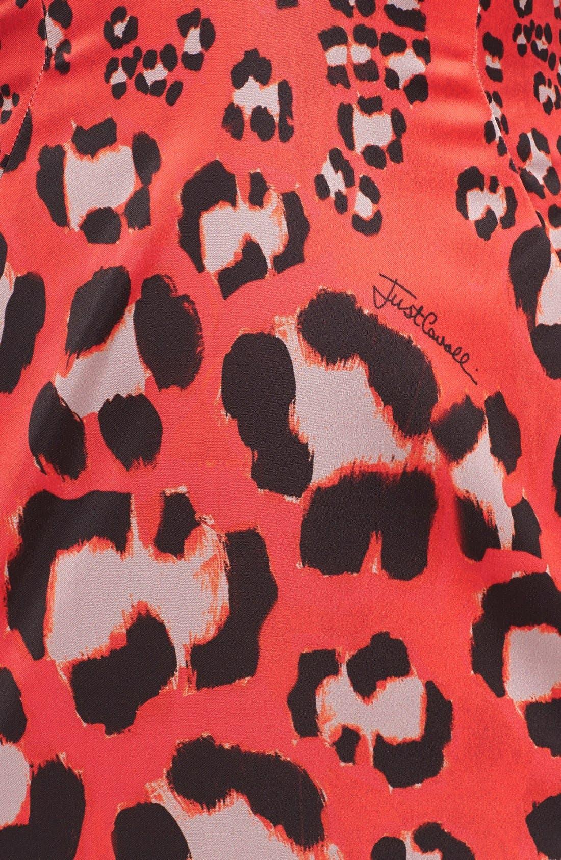 Alternate Image 3  - Just Cavalli Embellished Print Satin Sheath Dress