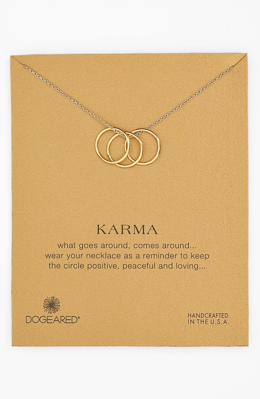 Main Image - Dogeared 'Karma' Charm Necklace