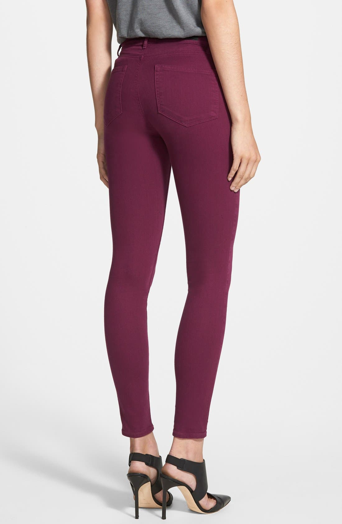 Alternate Image 2  - Paige Denim 'Hoxton' Ultra Skinny Jeans (Passion Plum)