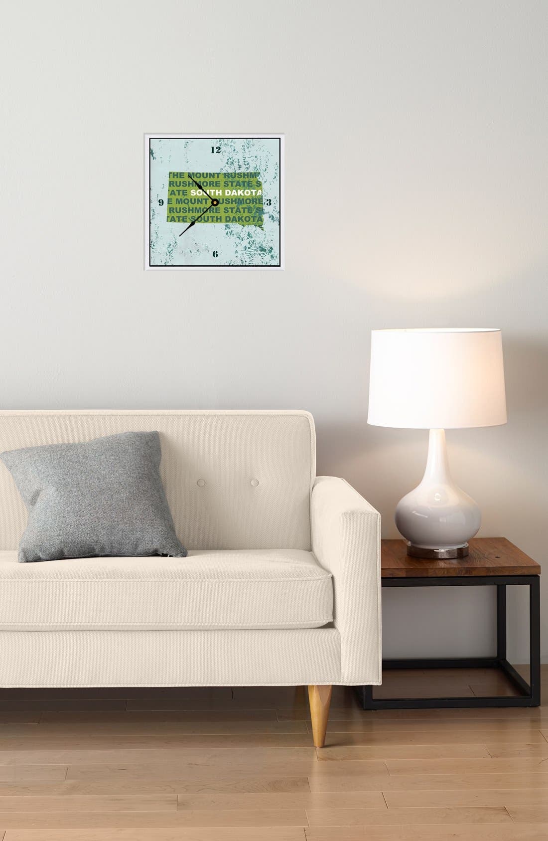 Alternate Image 2  - Green Leaf Art 'State Texture' Clock