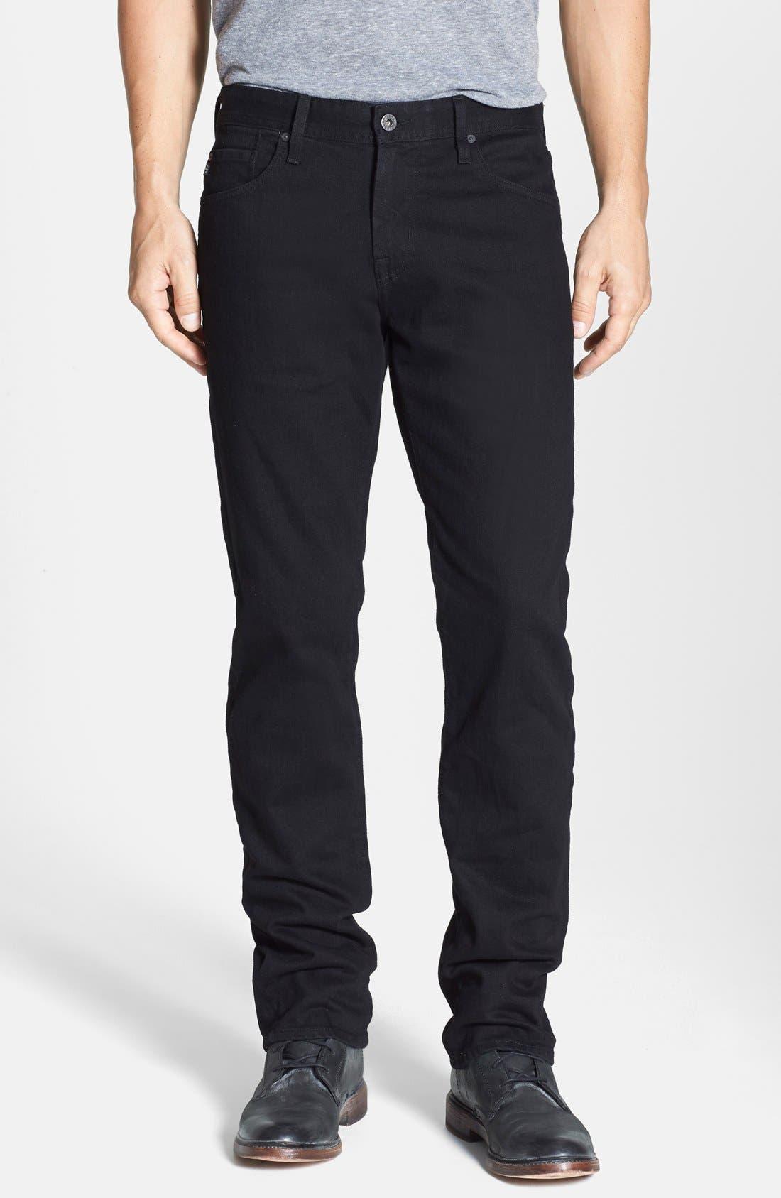 Alternate Image 1 Selected - AG Graduate Slim Straight Leg Jeans (Blackbird)