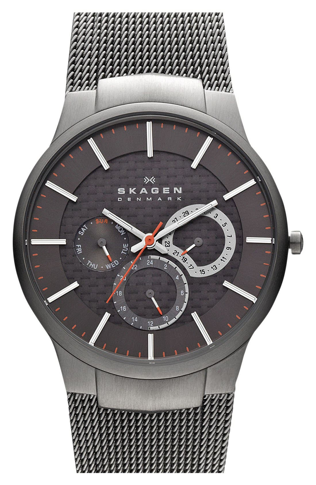 Alternate Image 1 Selected - Skagen Men's Carbon Fiber & Titanium Watch, 40mm