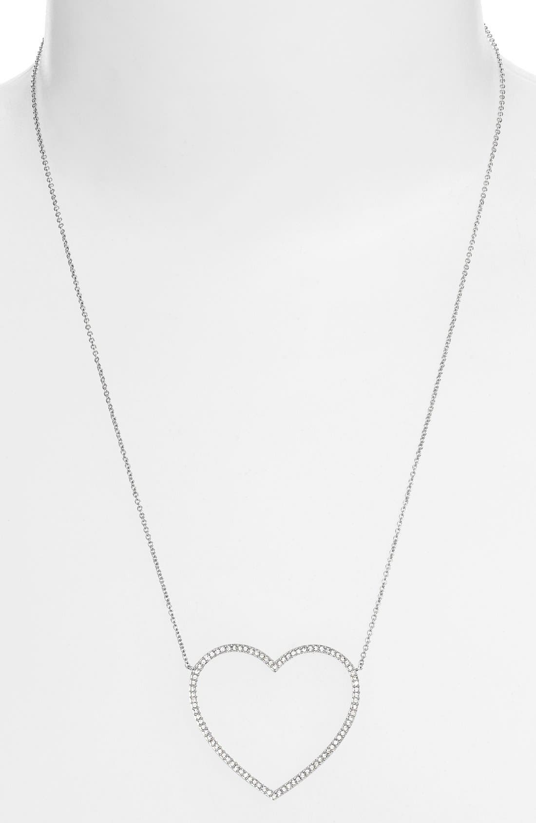Alternate Image 2  - Nadri Pavé Heart Pendant Necklace