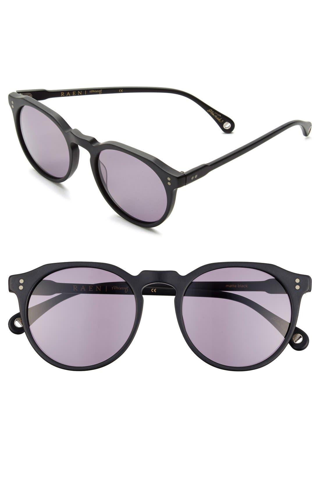 'Remmy' 52mm Sunglasses,                         Main,                         color, Matte Black