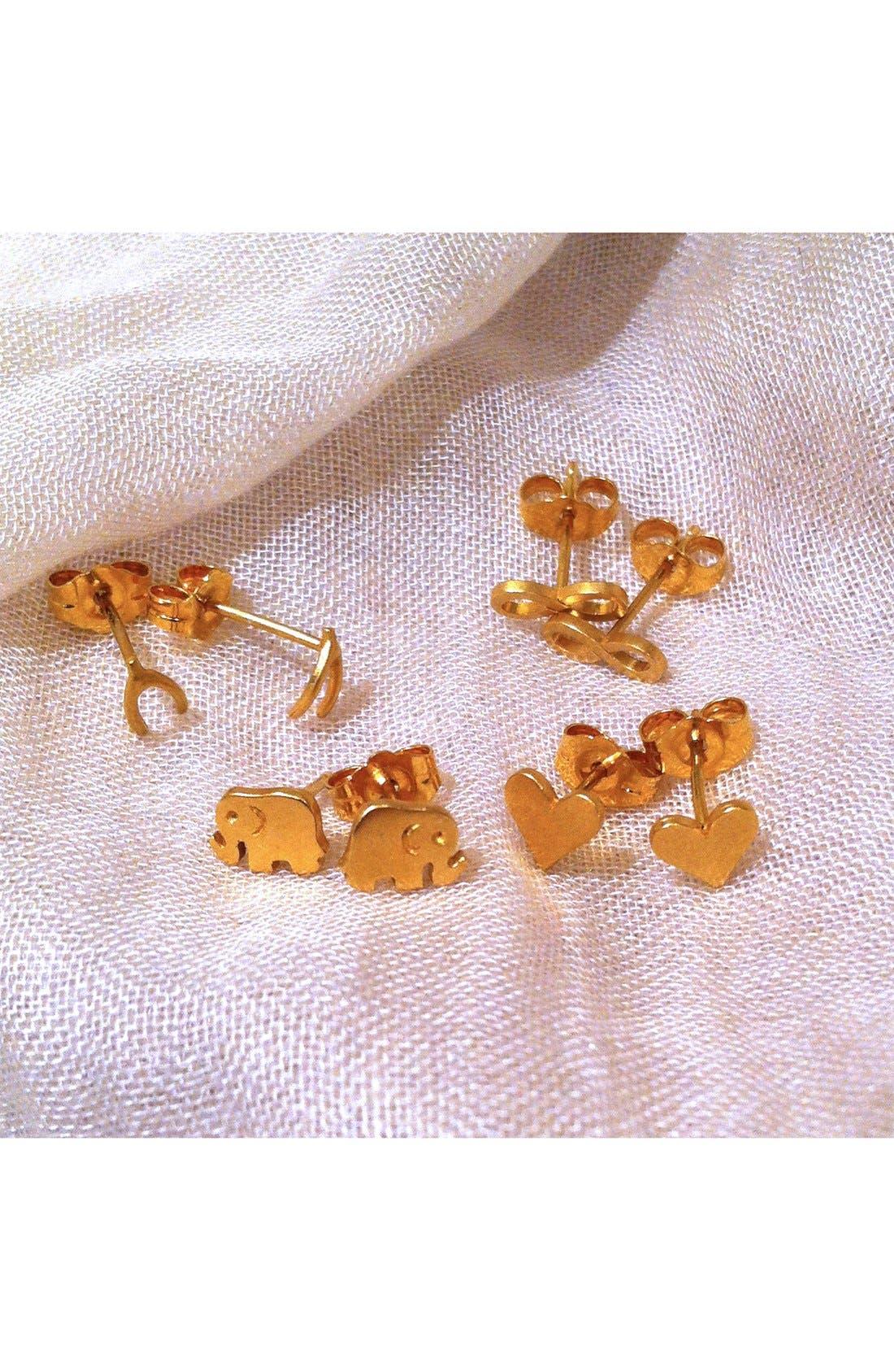 Alternate Image 3  - Dogeared 'It's the Little Things' Elephant Stud Earrings