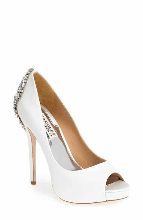 7482df0bb5 Badgley Mischka  Kiara  Crystal Back Open Toe Pump (Women)