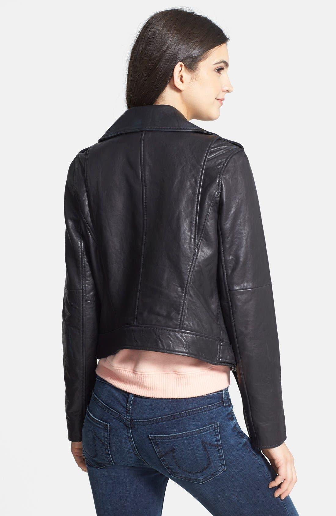 Alternate Image 2  - Treasure&Bond Leather Jacket