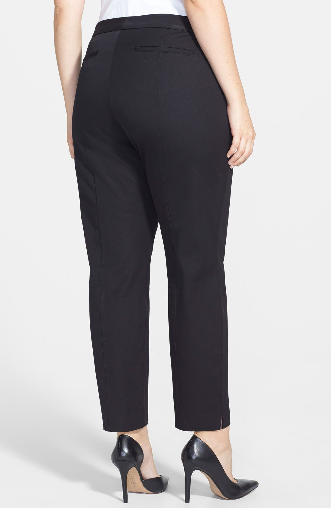 Alternate Image 2  - NYDJ 'Fashion' Two-Way Stretch Slit Ankle Pants (Plus Size)