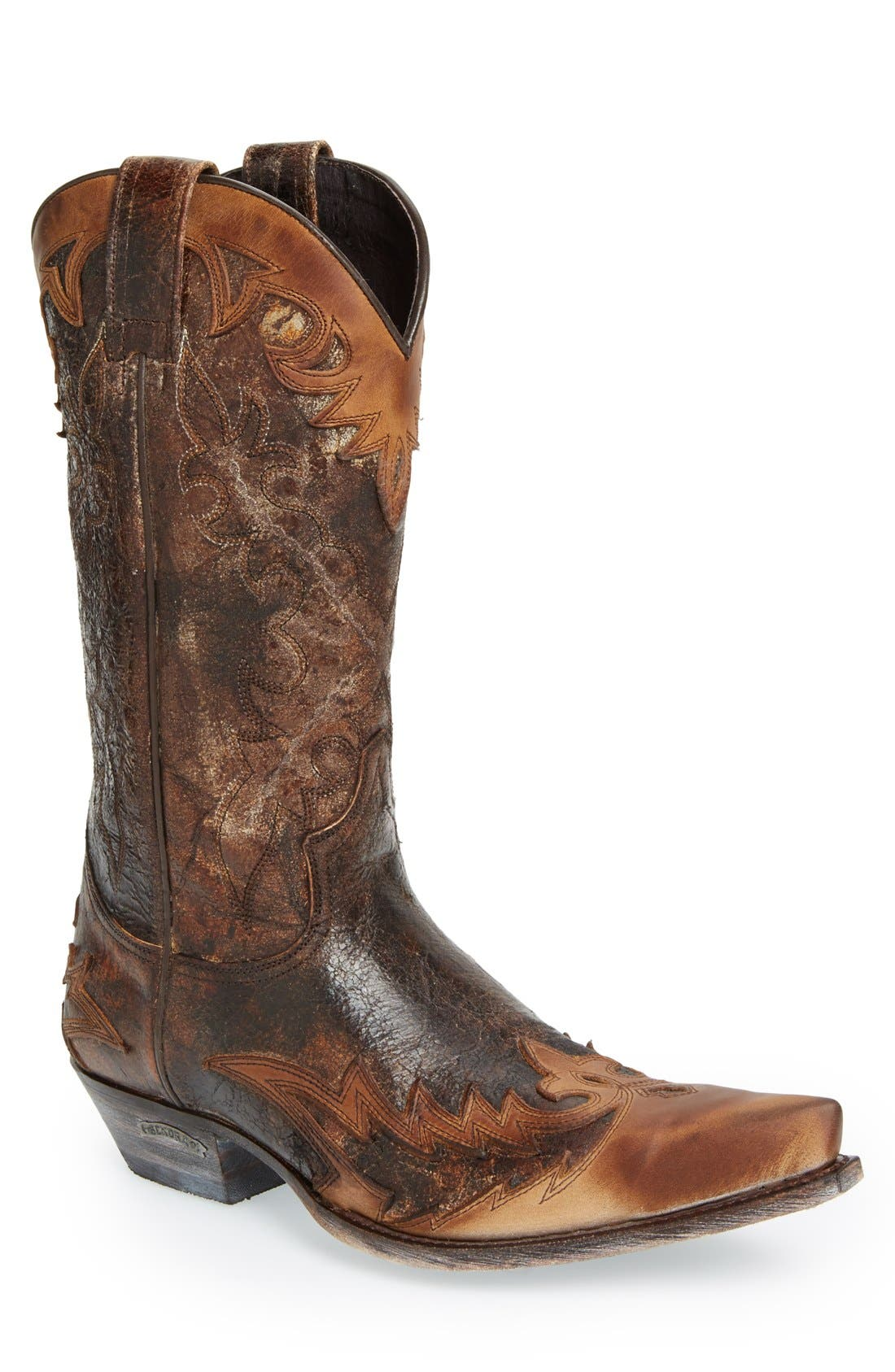 'Carson' Cowboy Boot,                             Main thumbnail 1, color,                             Tan