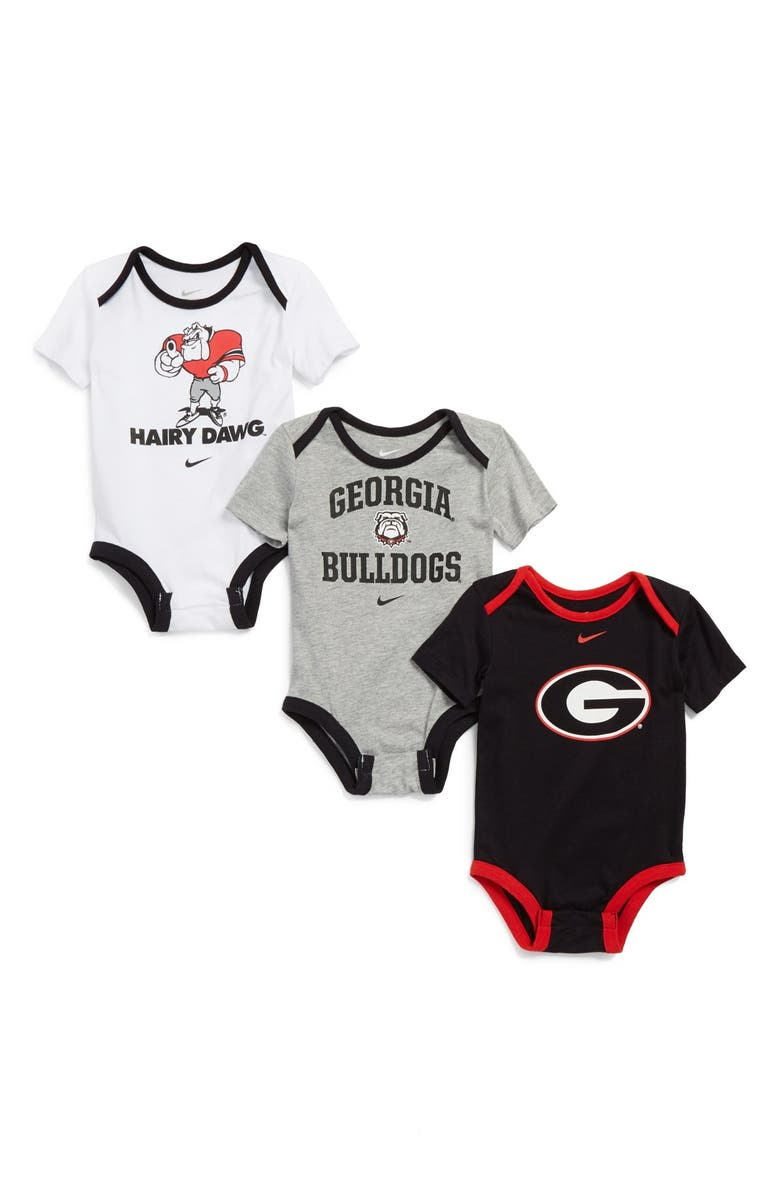 reputable site f7860 0d2d4 Nike 'Georgia Bulldogs' Bodysuits (3-Pack) (Baby) | Nordstrom