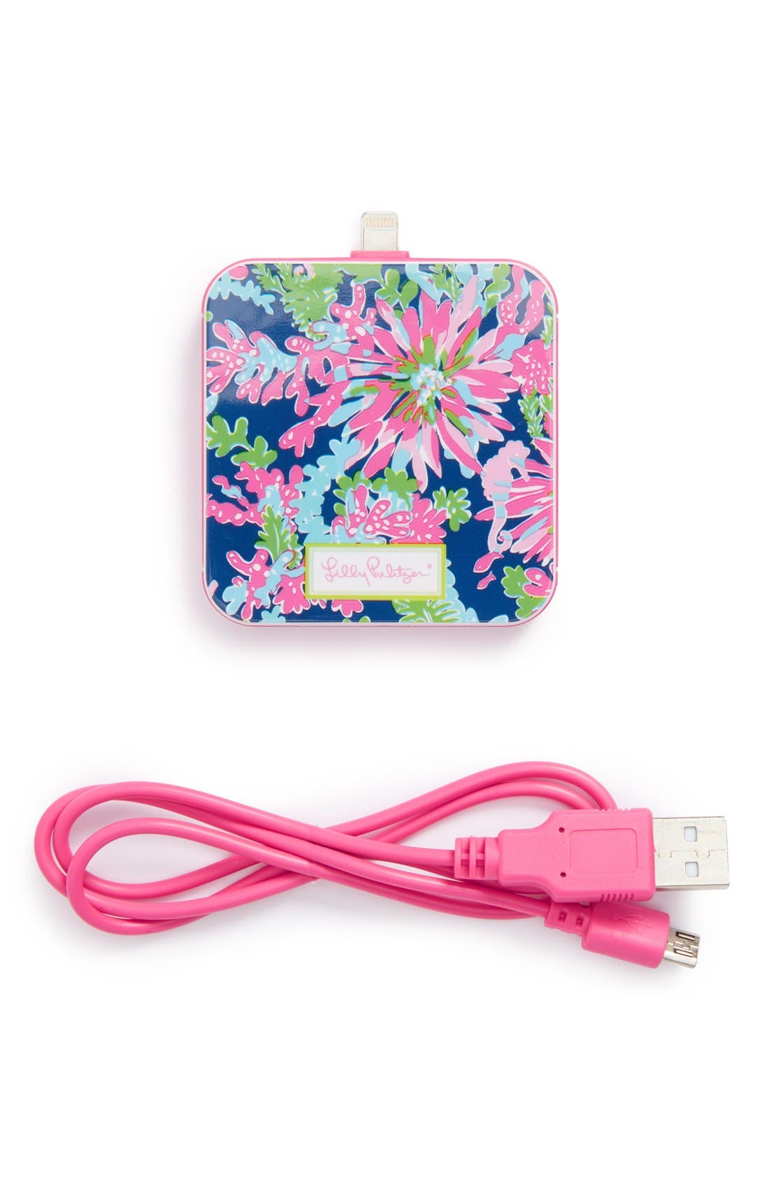 Alternate Image 1 Selected - Lilly Pulitzer® 'Trippin & Sippin' iPhone 5s, 5c & 5 Charger