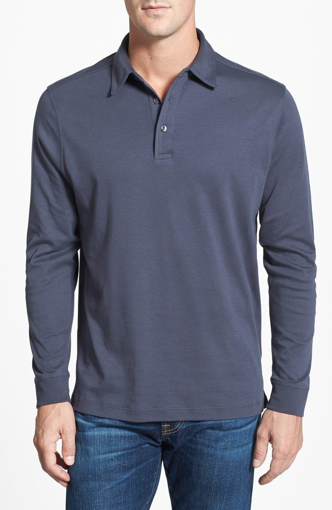 Belfair Pima Cotton Polo,                         Main,                         color, Onyx Grey