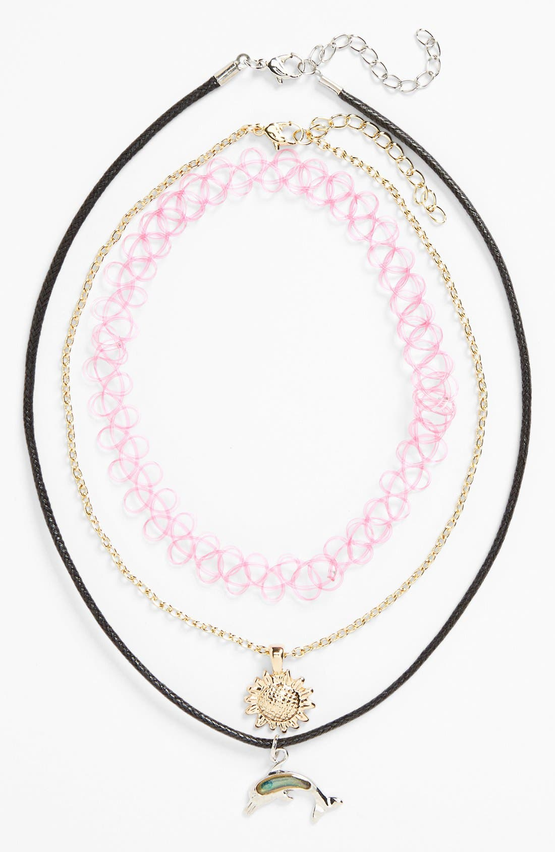 Alternate Image 2  - Topshop Necklaces (3-Pack)