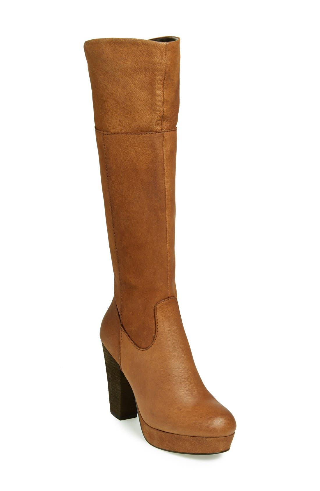 Alternate Image 1 Selected - Steve Madden 'Rackey' Leather Platform Boot (Women)