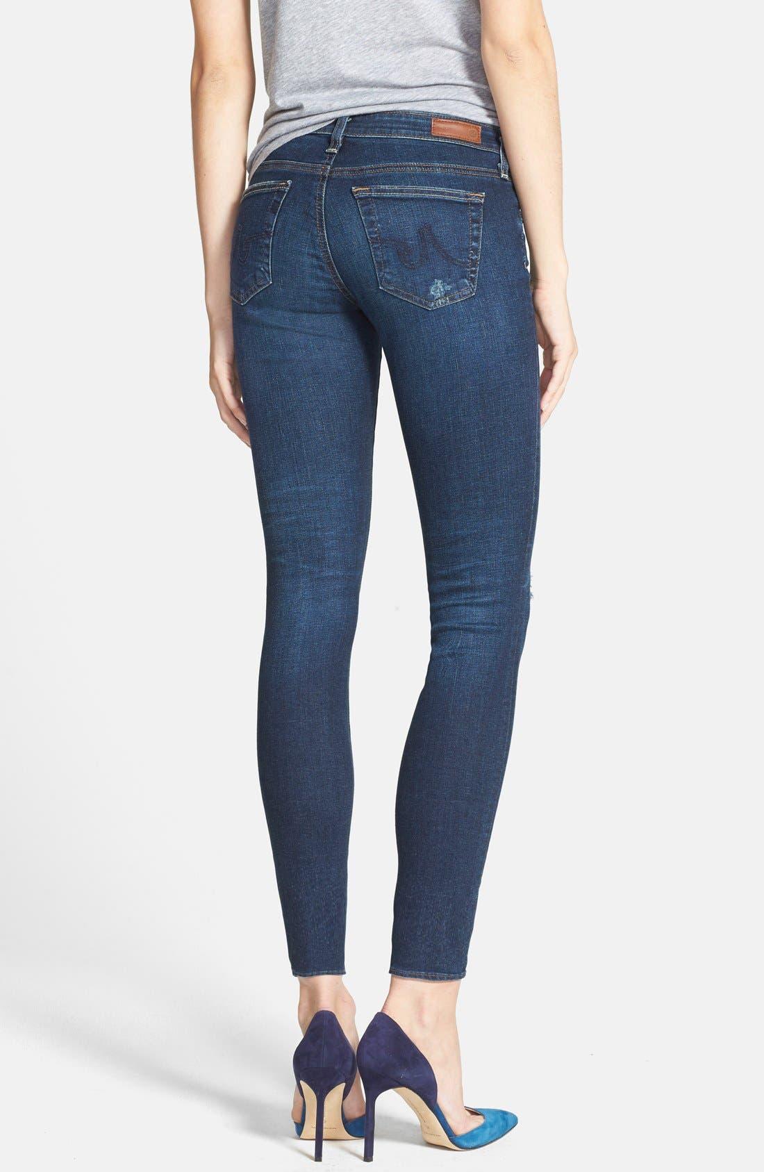Alternate Image 2  - AG 'The Legging' Ankle Jeans (4 Year Fog)