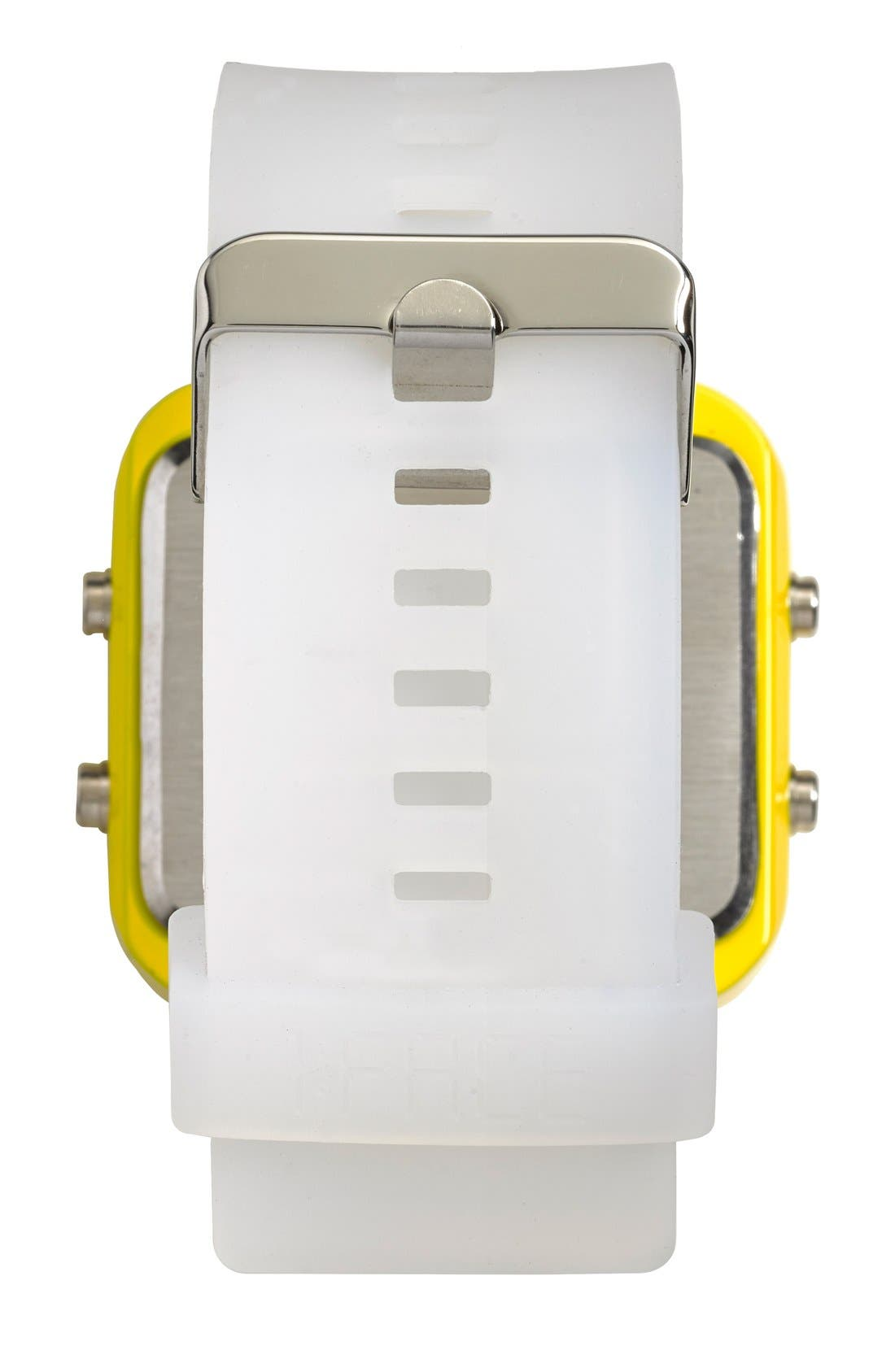 Alternate Image 3  - 1:Face 'Water' Square Digital Silicone Strap Watch, 38mm