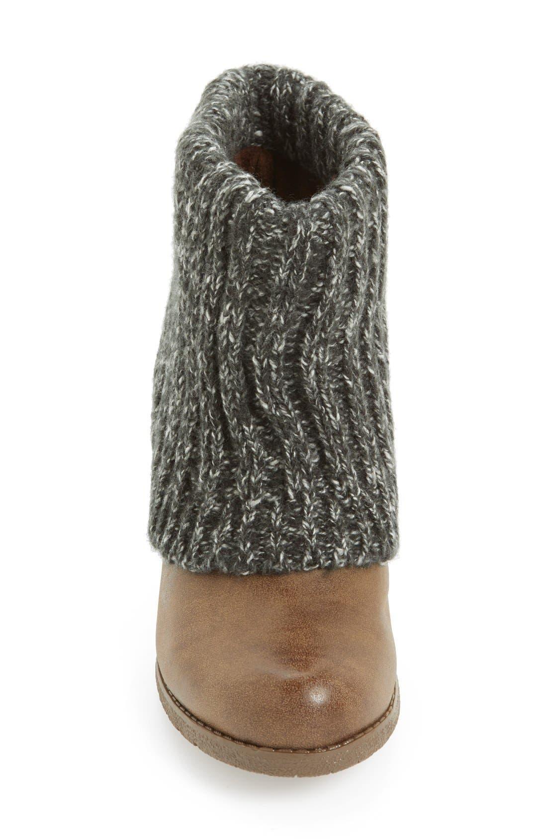 Alternate Image 3  - MUK LUKS 'Chris' Knit Cuff Bootie (Women)