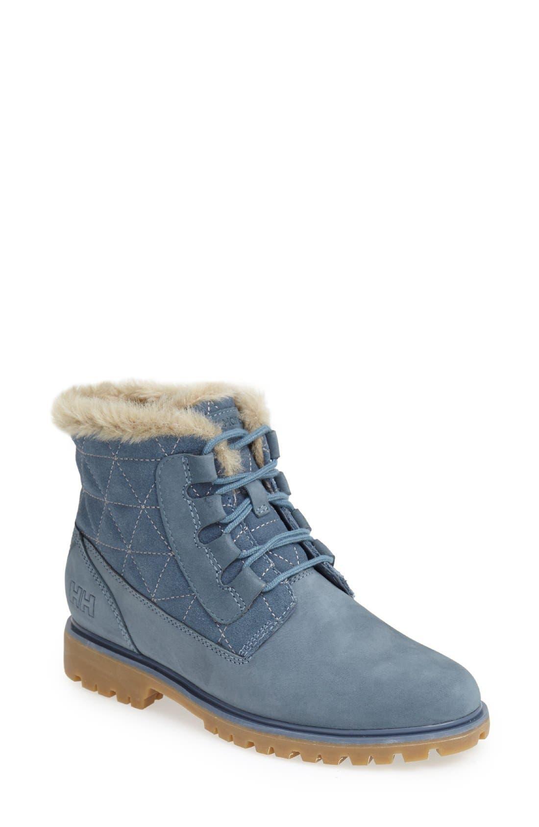 'Vega' Waterproof Leather Boot,                             Main thumbnail 1, color,                             Arctic Blue/ Natural