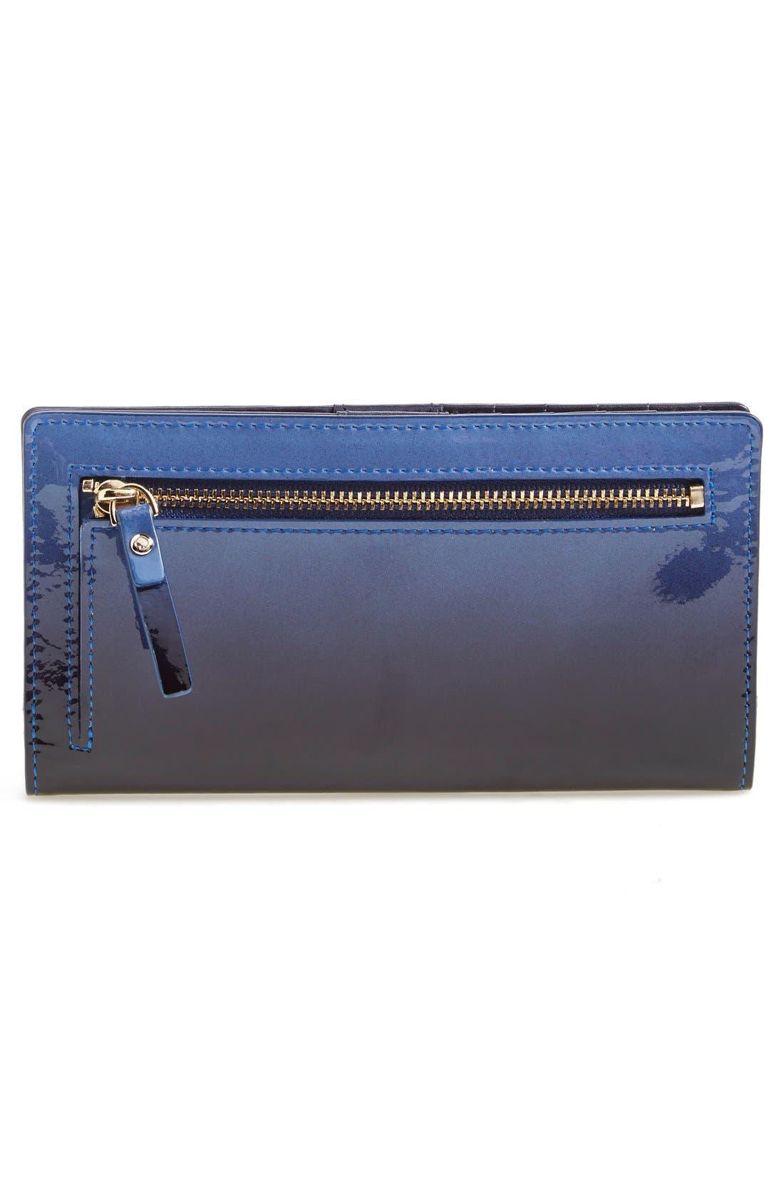 Alternate Image 3  - kate spade new york 'cedar street - ombré patent stacy' leather clutch wallet