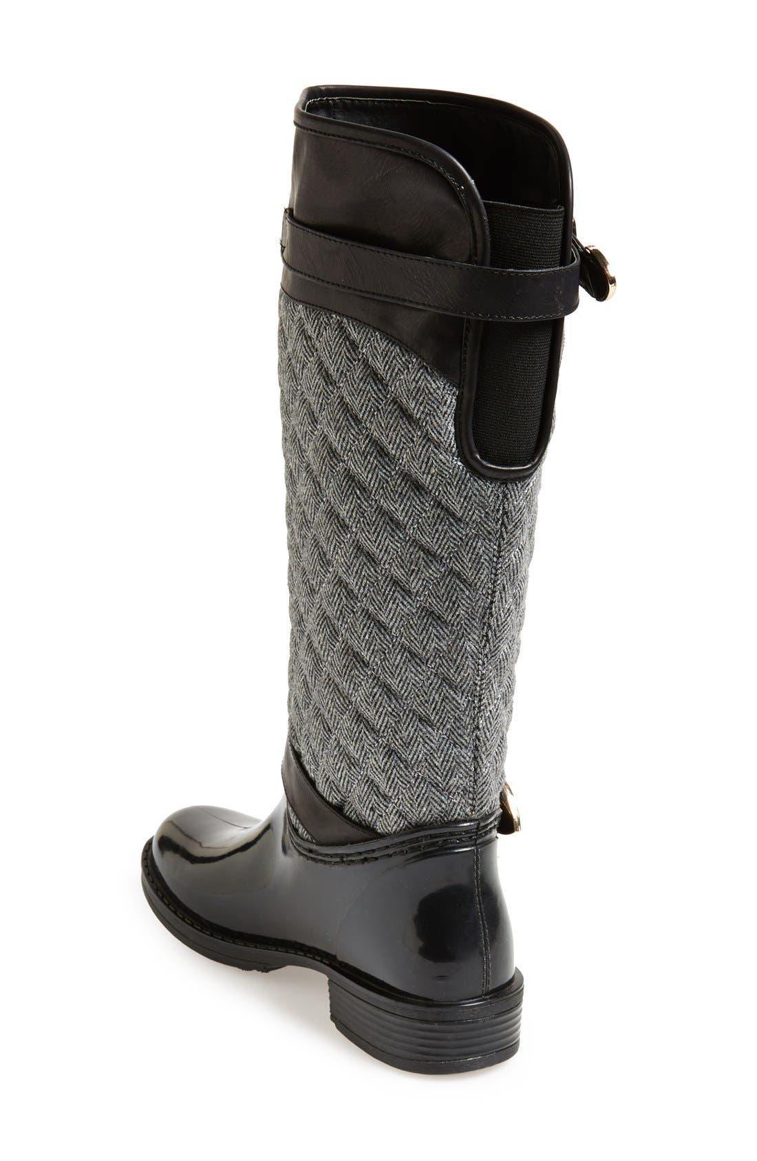 Alternate Image 2  - Posh Wellies 'Peacon' Quilted Tall Rain Boot (Women)