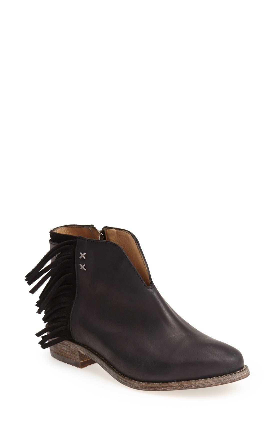 Main Image - Koolaburra 'Dallas' Fringed Leather Bootie (Women)