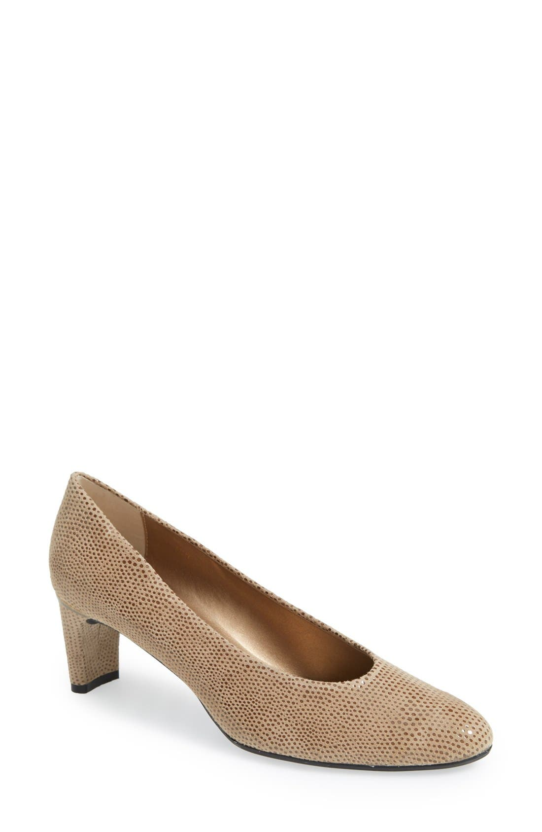 'Dayle' Pump,                         Main,                         color, Taupe Print Leather