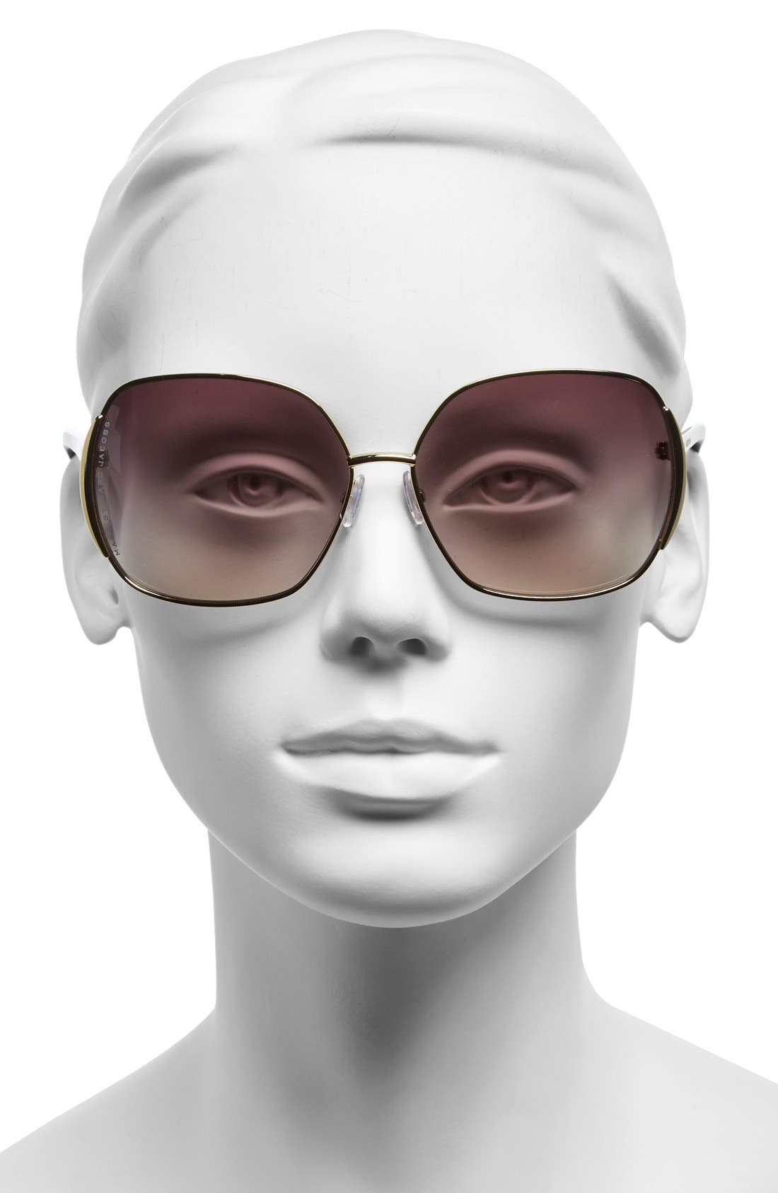 Alternate Image 2  - MARC BY MARC JACOBS 61mm Vintage Inspired Oversized Sunglasses