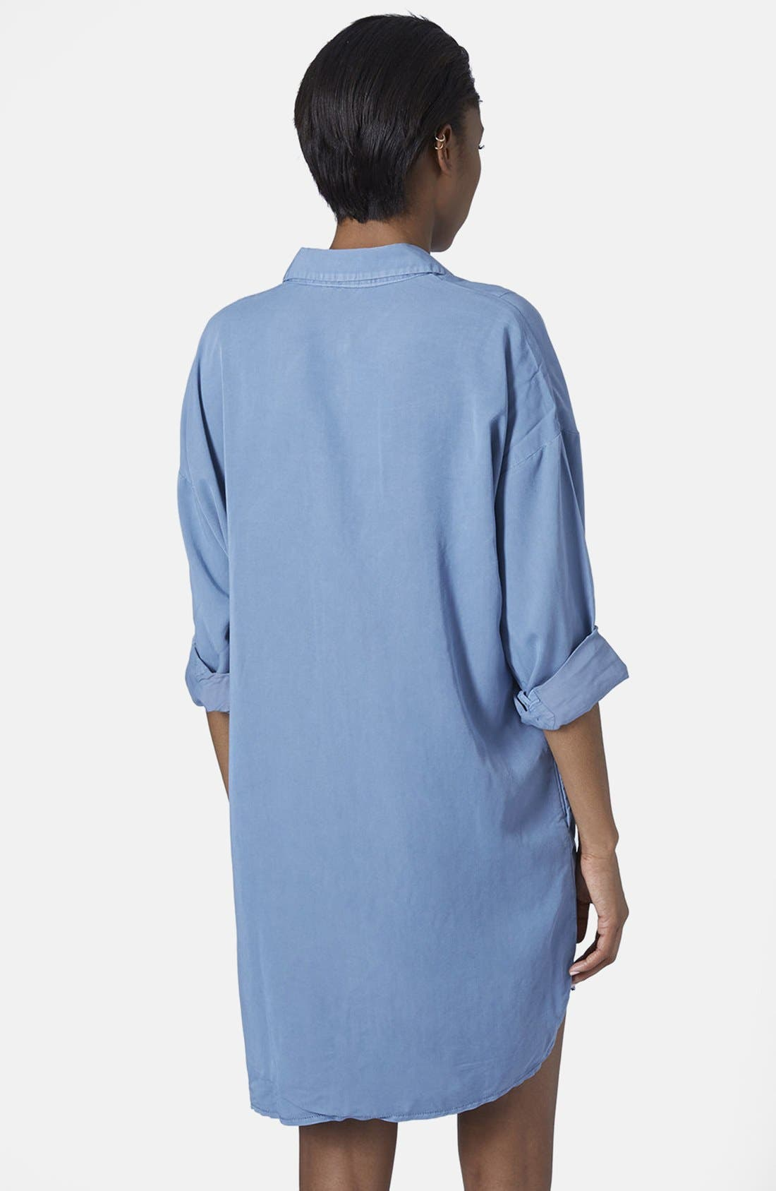 Alternate Image 2  - Topshop Relaxed Shirtdress