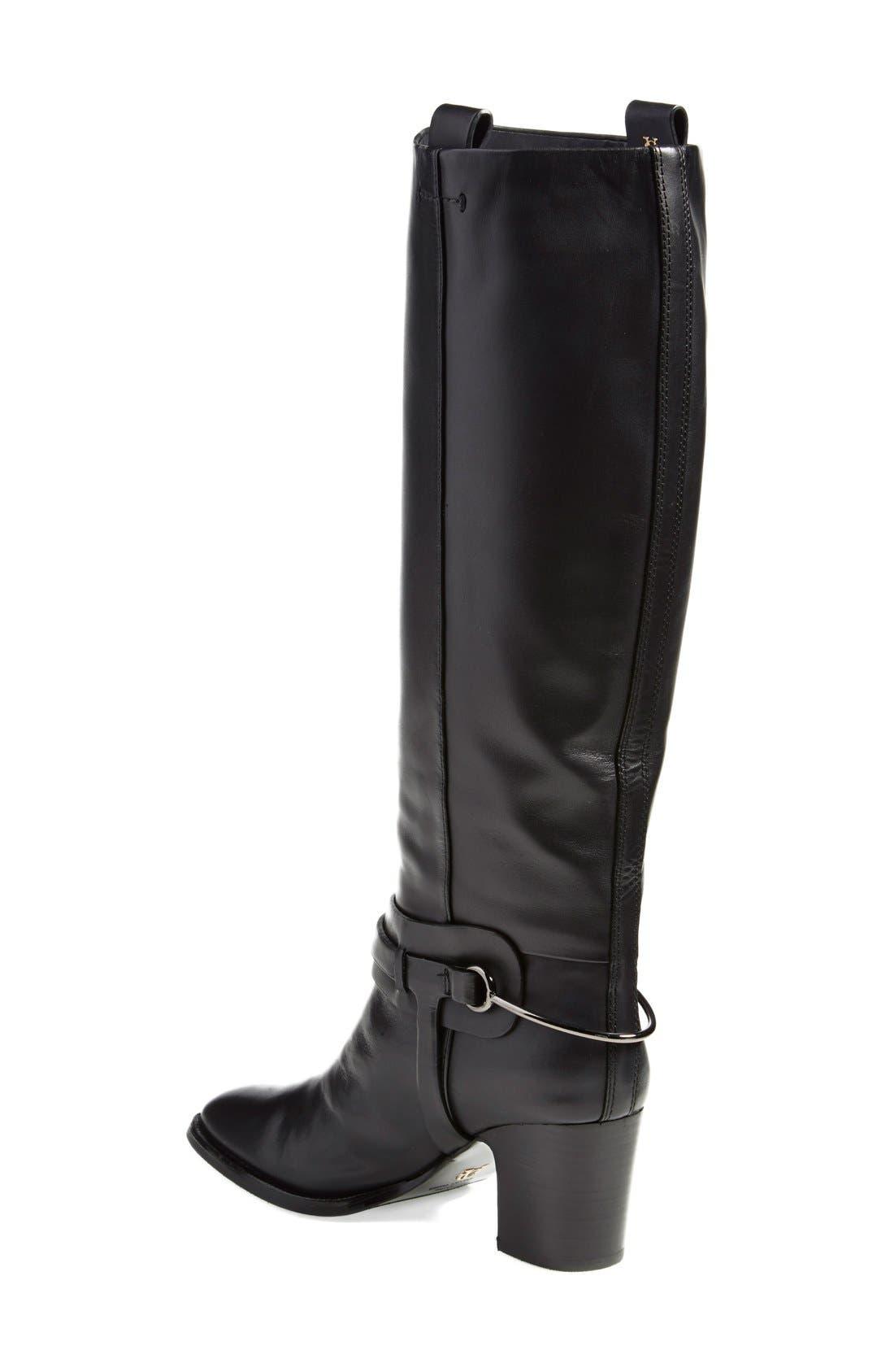 'Tazmin' Knee High Boot,                             Alternate thumbnail 2, color,                             Nero