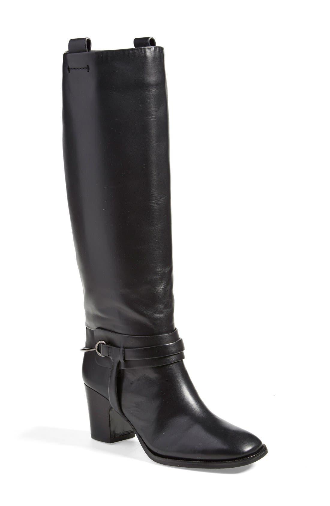 'Tazmin' Knee High Boot,                         Main,                         color, Nero