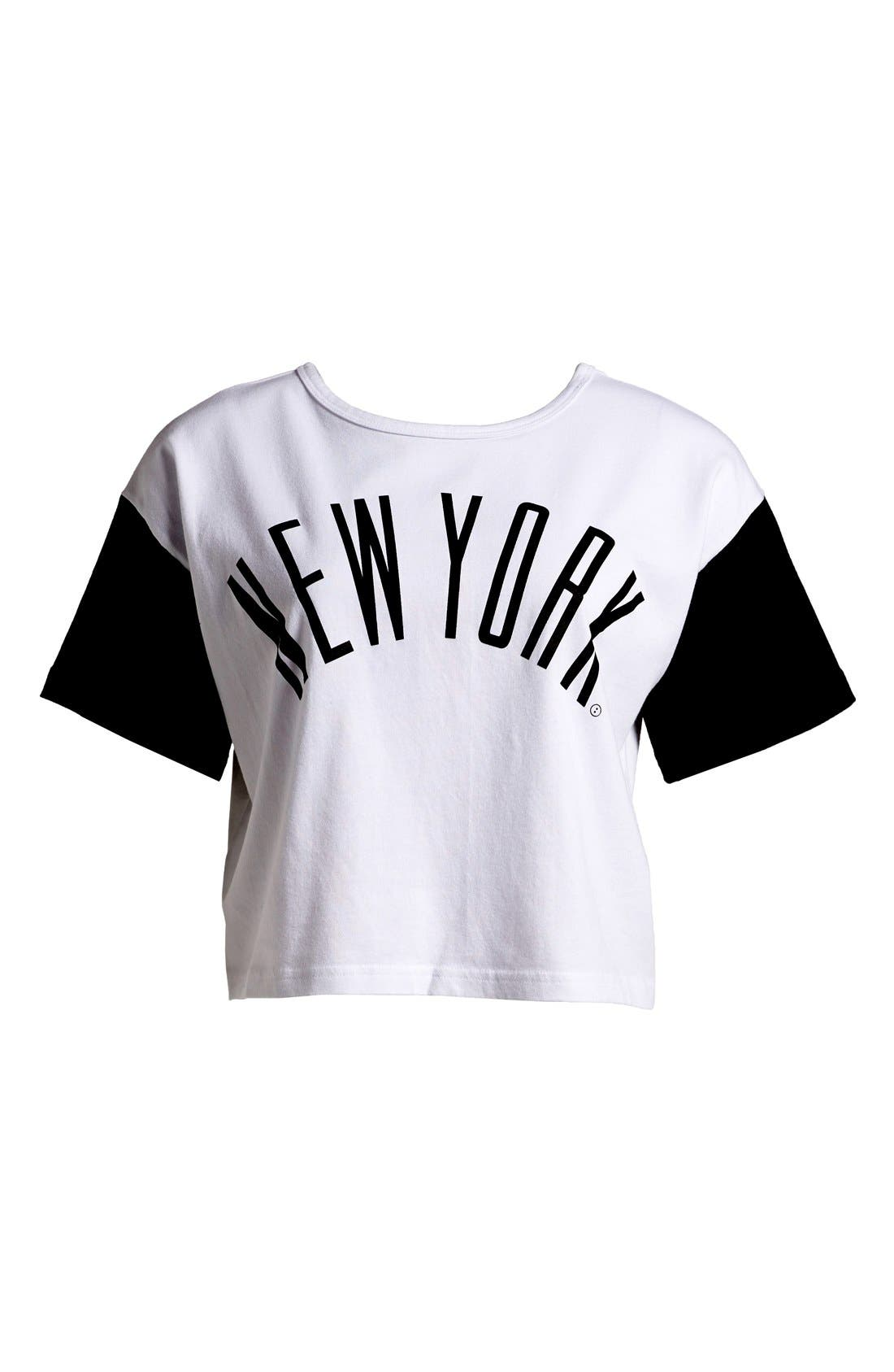 Alternate Image 1 Selected - :CHOCOOLATE 'NYC' Two-Way Crop Tee (Women)