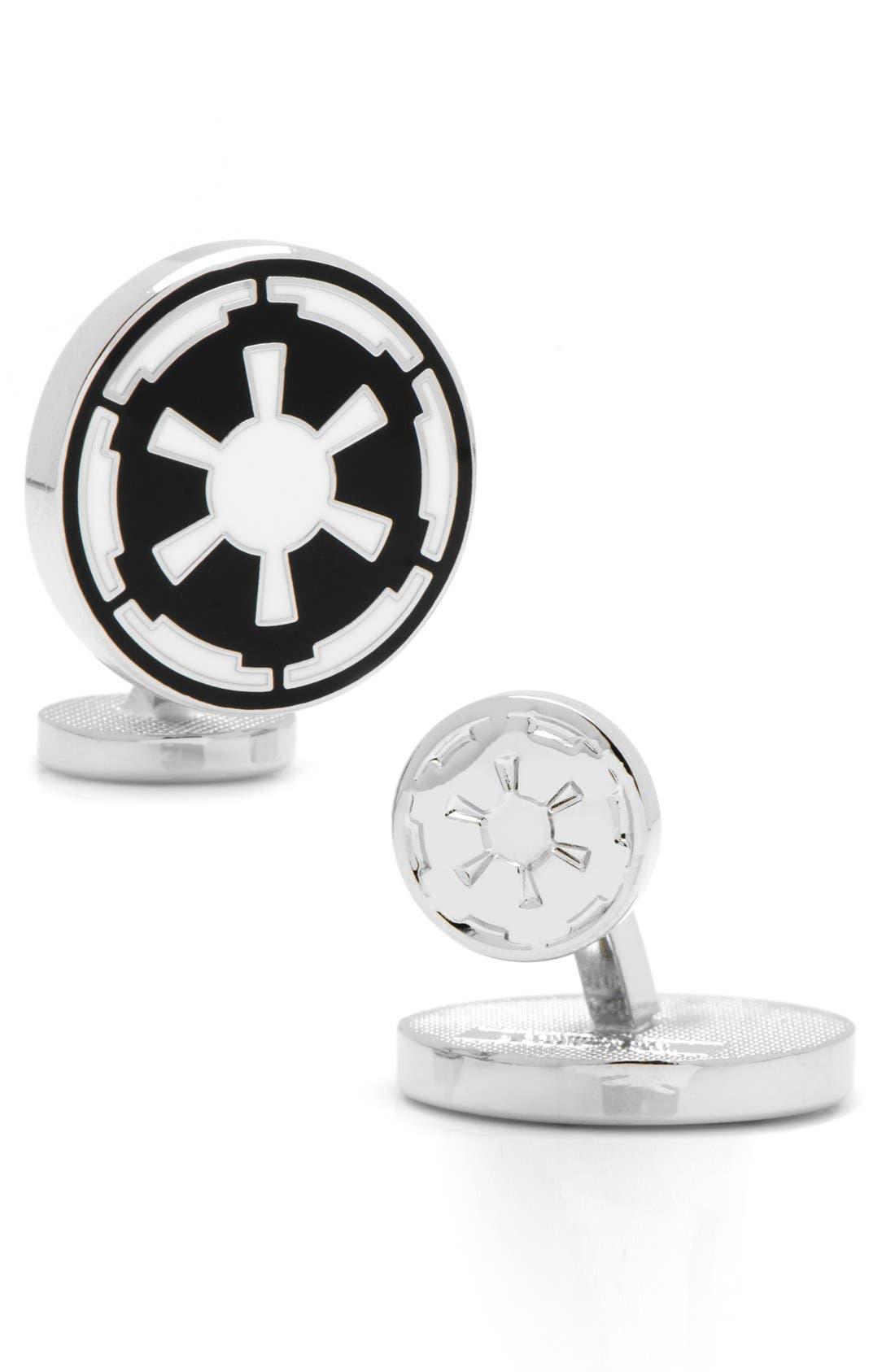 Main Image - Cufflinks, Inc. 'Star Wars™ - Imperial Emblem' Cuff Links