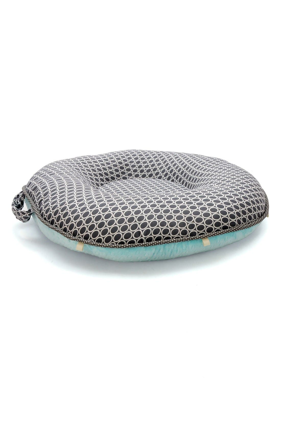 'Majestic' Portable Floor Pillow,                             Main thumbnail 1, color,                             Grey/ Aqua
