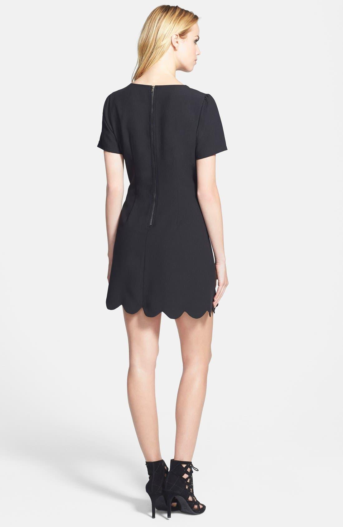 Alternate Image 2  - June & Hudson Scallop Hem Fit & Flare Dress