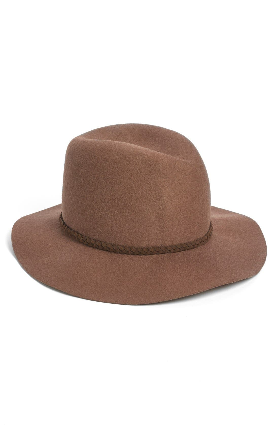 Felt Panama Hat,                             Main thumbnail 1, color,                             Walnut