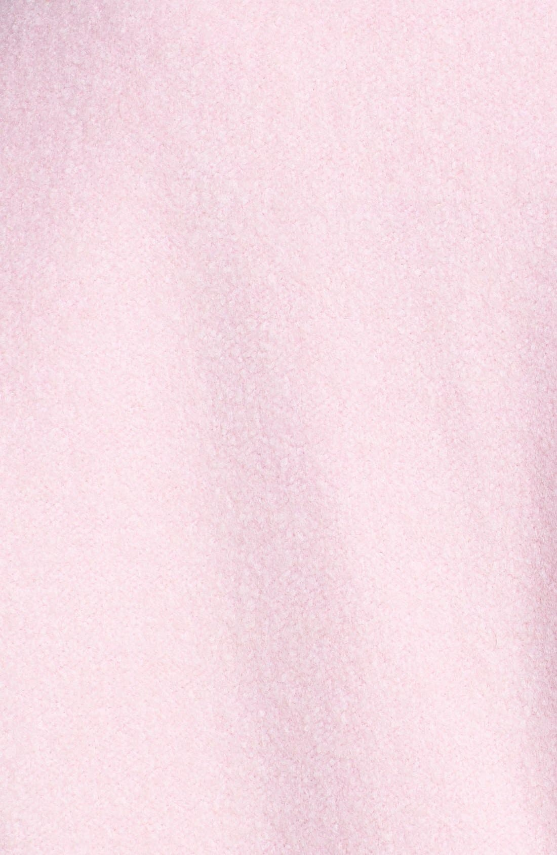 Single Button Car Coat,                             Alternate thumbnail 3, color,                             Baby Pink
